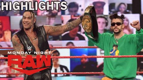 Bad Bunny Counters Sneak Attack From Tozawa | WWE Raw 2/22/21 Highlights | USA Network