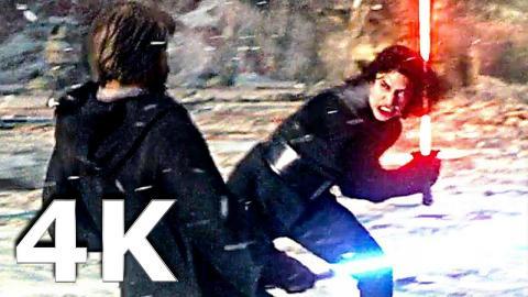 STAR WARS 8 - Luke VS Kylo Ren Fight Scene in Ultra HD 4K