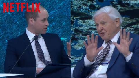 HRH Prince William interviews Sir David Attenborough at Davos Main Stage | Our Planet | Netflix